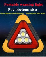 Emergency Lights Car LED Work Light MultiFunction Triangle Warning Sign Road Safety Breakdown Alarm Lamp Portable Flashing Onhand