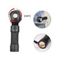 Derece Dönen T6 + COB LED Torch Mikro USB Şarj Pille Powered 26650/18650 Kuyruk Mıknatıslı El Fenerleri Torches