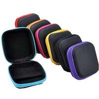 Funda para auriculares Earbudos portátiles Box Box PU Cuero Auricular Bolsa de almacenamiento Protector USB Cable Organizador GWE5566