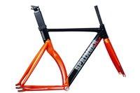 Springer Mag 고정 기어 트랙 자전거가 속도 프레임에서 경쟁하기 알루미늄 7005carbon 포크 블랙 오렌지