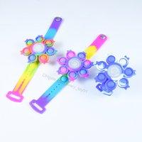 Fidget Decompression Toys Luminous Rotating Bracelets Bubble Silicone Bracelet Push Bubbles Sensory Toy