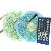 Streifen LED-Streifenlicht RGBW SMD-flexibles Ribbon RGBWW 5M Tape-Diode + 400-Fernbedienung + DC 12V-Adapter