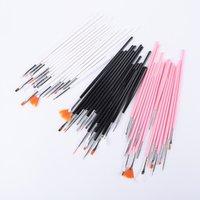 Escova de prego Pintura desenho caneta para manicure ferramentas de gel 15 pcs / set unhas acrílicas em pó líquido escultura 3 cores