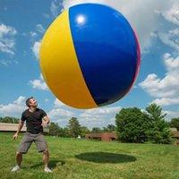150 cm 59 pollici calcio gigantesima piscina gonfiabile a tre colori palla galleggiante spiaggia divertimento giocattoli galleggianti tubi