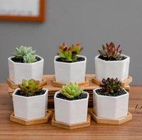 Ceramic Bonsai Pots Mini White Porcelain Flowerpots Succulent Garden Indoor Home Nursery Planters Sea Shipping DWB7103