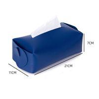 Doku Kutusu Kapak Yumuşak PU Deri Katlanabilir Mendil Kutusu Peçete Tutucu Oturma Odası Mutfak Masaüstü Doku Kutuları GWD9269