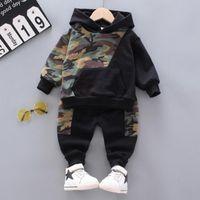 Abbigliamento Set Boy Tracksuit Vestiti Set Bambini SpringAutumn Cotton School Uniform Sport Sport Camouflage Suit Bambini 1 2 3 4 5 anni