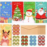 Gift Wrap PRETYZOOM 30pcs Christmas Cards With Envelopes 30-count Set Xmas Money Wallet 5 Patterns Greet Holders And