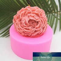 Cake Tools 3D Silicone Candle Molds Peony Flower Soap Mold Fondant Chocolate Baking Moulds Decorating H867