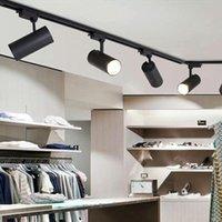 Parça Işık 18 W 24 W COB Lamba Işıkları Raylı Spot LED'ler Izleme Fikstürü Spot Reflektörler için Giyim Mağazası