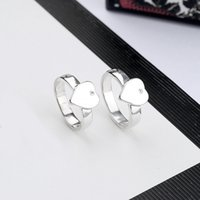 3 Colors Women Heart Finger Rings with Stamp Cute Letter Ring Fashion Jewelry Accessories for Love Girlfriend