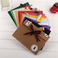 24*18*0.7cm bow Envelope Kraft paper pocket bag Kerchief Handkerchief Silk scarf packing boxes box