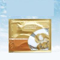Skin Care 24k Colágeno Gold / Cristal Máscara de Olho Removendo Círculos Escuros Clareamento Anti-rugas Indo para Eyelines Cristal Seco Linhas Secas Certificada Certificate Punch