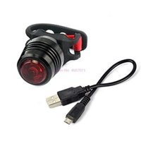 Bike Lights 200pcs Outdoor USB Bicycle Bicycle Luce ricaricabile notturno a cavallo Avvertimento impermeabile Avvertenza posteriore LED