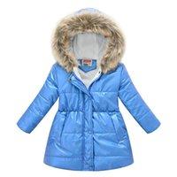 Down Coat Children Winter Baby Boys Girls Cotton-padded Parka & Coats Thicken Warm Long Jackets Toddler Kids Outerwear