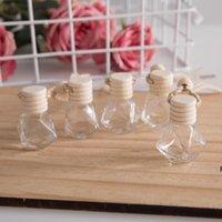 زجاجة زجاج شنقا للزيوت الأساسية الهواء المعطر الحاويات الكريستال الزجاج عطر قلادة سيارة عطر زجاجة فارغة HWB6801