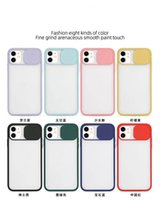 Cellphone Cases Frosted Transparent Shockproof Lens Slide Phone Cover For iPhone 12 mini 11 pro Max XR SE 2021 8 7 Plus 6s sliding camera Hard Case