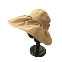Beanies 2021 Sun-shading Sun Hat With Anti-ultraviolet Big Eaves Can Tie A Ponytail Hollow Top Fisherman Outdoor Sports Beach