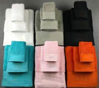 Classic Embroidery Towel Set Designer Square Beach Towel Adults Bath Towel 3 Piece 1 set Cotton Towels Gifts