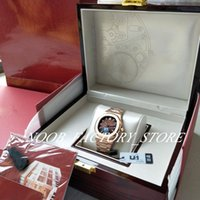 U1 заводские мужские часы CAL.324 Автоматическое движение 40 мм розовый золотой шоколадный циферблат классический 5711 1R 001 часы прозрачные задние дайвинг наручные часы оригинальная коробка