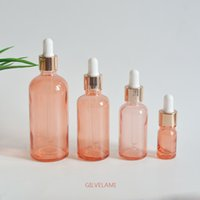 Rose Gold Glass Dropper Bottles DIY Essential Oil Empty Cosmetic Red Packaging Container Skin Care 5ml 15ml 30ml 50ml 100ml