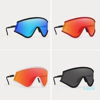 Atacado-Eyeshade Ciclismo Eyewear 8 Cores Ao Ar Livre Esporte Sunglasses Marca Óculos de Sol bicicleta Óculos Com Caso