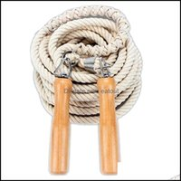 Ropes Equipments Supplies Sports & Outdoors Jump Wooden Handle Skip Gym School Group Mti Person Rope Jum Fitness Equipment Drop Delivery 202