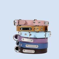 Hohe Qualität Hundekatze Kragen mit Glocken Sicherheit Verstellbarer Gürtel Halskette Chihuawa Pet Products Halsbänder Leads