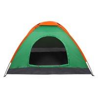 2-4 Pessoa À Prova D 'Água Camping Dome Barraca para Laranja de Sobrevivência de Caminhadas Ao Ar Livre