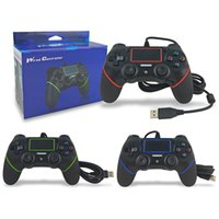Wire Joystick Gamepad Ps4 Controller Wired for Sony Playstation 4 with Motion Motors, Mini LED Indicator and Anti-Slip Design
