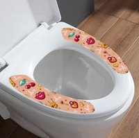 Klozet Yastık Çıkartmalar PVC Yıkanabilir Banyo Yapıştırıcı Aniaml Baskılı Kullanımlık Yastık Kapak Paster Ev Malzemeleri DHA7508