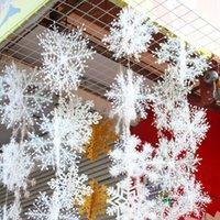 하얀 눈송이 장식 놀이 눈송이 크리스마스 트리 장식 홈 weddding 파티 6pcs 나무 창 스티커 멀티 크기