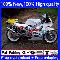 Kit de Bodys pour Suzuki SAPC RGV-250 VJ22 RGVT250 94 95 96 97 98 Blanc Blanc Nouvelle carrosserie 32no.59 VJ23 RGVT RGV 250 250CC RGV250 1994 1995 1996 1997 1998 RGVT-250 88-98 Carénage