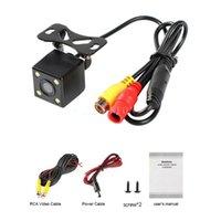 50Pcs Lot Waterproof 120 Degrees Night Vision Car Rear View Camera 12V 4 LED Parking Assitance Accessories Cameras& Sensors