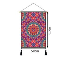 Geometric art tapestry, tribal psychedelic map, a variety of graphic choices and high-quality materials