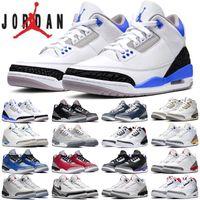 Nike Air Jordan 3 Jumpman Herren Basketballschuhe Schwarz Zement Court Lila UNC JTH NRG Feuerrot Basteln Herren Trainer Sport Sneaker Größe 40-47
