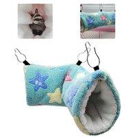 Cálido suave Hamster Estrellas Hamaca Hamaca Hamaca Pequeños Animales Sugar Glider Tube Bed Swing Bed Tunnel Túnel Peluches Mascotas Suministros