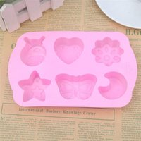Baking Moulds Silicone Fondant Chocolate Cake Mold Insects Butterfly Moon Star Flower Shaped Mould Non-toxic Durable Home Tools