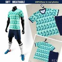 Männer Fußballuniformen Set DIY Fussball Fußball Jerseys Set 2019 2020 Top Team Football Hemd Kit und Shorts Erwachsene Sport Outfit
