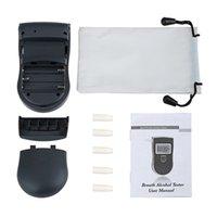 Polícia portátil Detector de Analisador de Teste Digital LCD Digital LCD Sensor de Álcool Respirador com 5 Peças de Lua WeGwerp 818