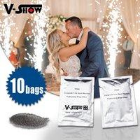V-Show 10Bags Composite Ti Powder200g / Bag Специальное сценическое освещение Специальный эффект для холодной зажима Сертификация Firework Firework Firework