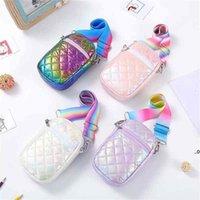Mini Purse Tote Bags Girl Crossbody Bag Single Shoulder Bag Cute Fashion Designer Mobile Phone Wallet Kids Girls Handbags For EWD8856