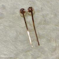 Fashion Classic Big Pearl Water Drill Hair Clip Gold Hairpin Side Clip för Dam Collection Exquisite Hår Tillbehör Artikel VIP Gift