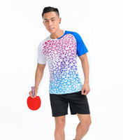Fußball setzt Männer Badminton Wear, Tisch Tennis Shirt Shorts, Polyester atmungsaktives und schnell trocknendes T-Shirt 13