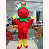 Performance Red Medlar Mascot Costume Halloween Christmas Fancy Party Cartoon Character Outfit Suit Adult Women Men Dress Carnival Unisex Adults