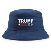 28 стилей простые козыря козыря солнцезащитная крышка США президентские выборы козырь 2024 рыболова шляпа пружины лето осень открытый lla575