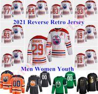 Ormonton Oilers 2021 عكس الرجعية الهوكي الفانيلة 26 براندون مانينغ جيرسي 36 جويل بيرسون 4 كريس راسل 19 ميكو كوسكينين مخصص خياطة