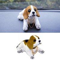 Interior Decorations Car Ornament Resin Shaking Head Beagle Dog Lovely Puppy Plush Nodding Cushion Doll Accessories Decorate Dashboard Decor