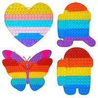 Stock Large Size 30 CM Fidget Toys Stress Relieve Decompression Toy Oversize Butterfly Heart Shaped Bubble Sensory