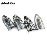 AriesLibra Lazer Tavuskuşu Toz Glitter Toz Ayna Etkisi Tozlar Sequins Tırnak Jel Lehçe Krom Pigment Nail Art Süslemeleri